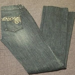 WHBM embroidered jeans